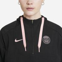Nike Paris Saint Germain Fleece Hoodie Half-Zip 2021-2022 Dames Zwart Roze