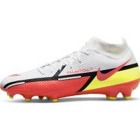 Nike Phantom GT 2 Academy DF Gras / Kunstgras Voetbalschoenen (MG) Wit Rood Geel