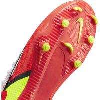 Nike Phantom GT 2 Academy DF Gras / Kunstgras Voetbalschoenen (MG) Kids Wit Rood Geel