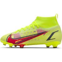 Nike Mercurial Superfly 8 Pro Gras Voetbalschoenen (FG) Kids Geel Rood Zwart