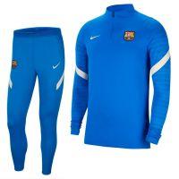 Nike FC Barcelona Strike Drill Trainingspak 2021-2022 Blauw Lichtgrijs