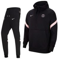 Nike Paris Saint Germain Travel Fleece Trainingspak 2021-2022 Kids Zwart Roze