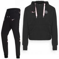 Nike Paris Saint Germain Travel Fleece Trainingspak 2021-2022 Dames Zwart Roze