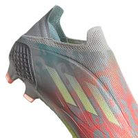 adidas X Speedflow+ Gras Voetbalschoenen (FG) Grijs Wit Geel