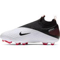 Nike Phantom Vision 2 Elite DF Gras / Kunstgras Voetbalschoenen (MG) Kids Wit Zwart Rood