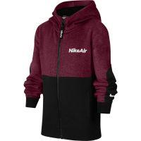 Nike NSW Air Full-Zip Hoodie Kids Donkerrood Zwart