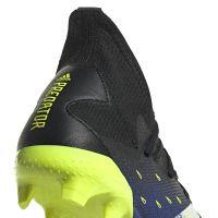 adidas Predator Freak.3 Gras Voetbalschoenen (FG) Zwart Wit Geel