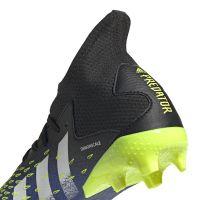 adidas Predator Freak.3 Gras Voetbalschoenen (FG) Kids Zwart Wit Geel