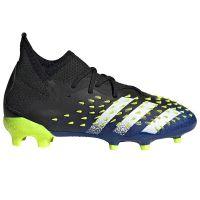 adidas Predator Freak.1 Gras Voetbalschoenen (FG) Kids Zwart Wit Geel