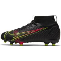 Nike Mercurial Superfly 8 Academy Gras / Kunstgras Voetbalschoenen (MG) Kids Zwart Geel