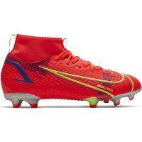 Nike Mercurial Superfly 8 Academy Gras / Kunstgras Voetbalschoenen (MG) Kids Rood Zilver