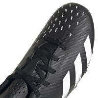 adidas Predator Freak.4 Gras / Kunstgras Voetbalschoenen (FxG) Kids Zwart Wit Zwart