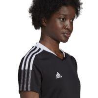 adidas Tiro 21 Trainingsshirt Dames Zwart Wit