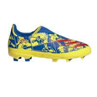adidas X Ghosted.3 LL Gras Voetbalschoenen (FG) Kids Blauw Rood Geel