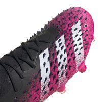 adidas Predator Freak.1 Low Gras Voetbalschoenen (FG) Zwart Wit Roze
