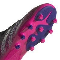 adidas Predator Freak.3 Gras / Kunstgras Voetbalschoenen (MG) Kids Zwart Wit Roze