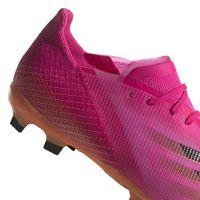 adidas X Ghosted.1 Gras Voetbalschoenen (FG) Kids Roze Zwart Oranje