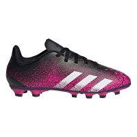 adidas Predator Freak.4 Gras / Kunstgras Voetbalschoenen (FxG) Kids Zwart Roze Wit