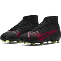 Nike Mercurial Superfly 8 Club Gras / Kunstgras Voetbalschoenen (MG) Kids Zwart Geel