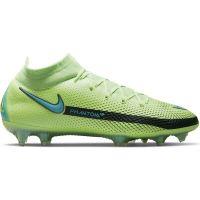 Nike Phantom GT Elite DF Gras Voetbalschoenen (FG) Lime Turquoise