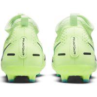 Nike Phantom GT Academy DF Gras / Kunstgras Voetbalschoenen (MG) Kids Lime Turquoise