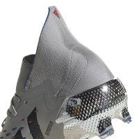 adidas Predator Freak.1 Gras Voetbalschoenen (FG) Zilver Zwart Blauw