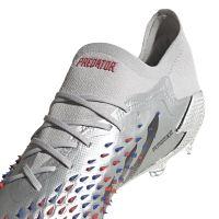 adidas Predator Freak.1 Low Gras Voetbalschoenen (FG) Zilver Zwart Blauw