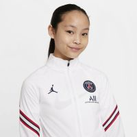 Nike Paris Saint Germain Strike Trainingspak 2021-2022 Kids Wit Donkerblauw