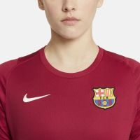 Nike FC Barcelona Strike Trainingsshirt 2021-2022 Dames Bordeauxrood Lichtgrijs