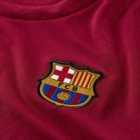 Nike FC Barcelona Strike Trainingsshirt 2021-2022 Bordeaxrood Lichtgrijs