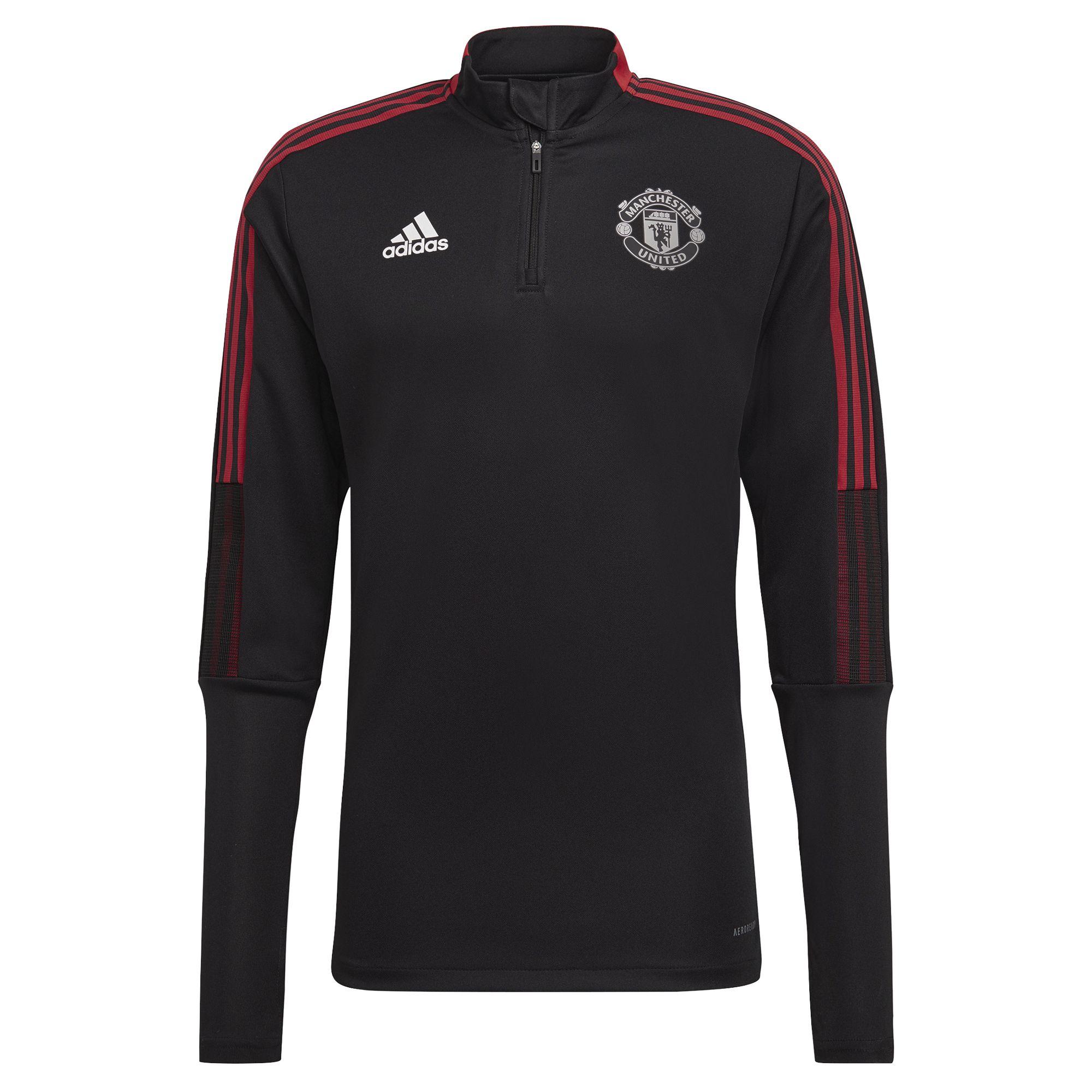 adidas Manchester United Trainingstrui 2021-2022 Kids Zwart