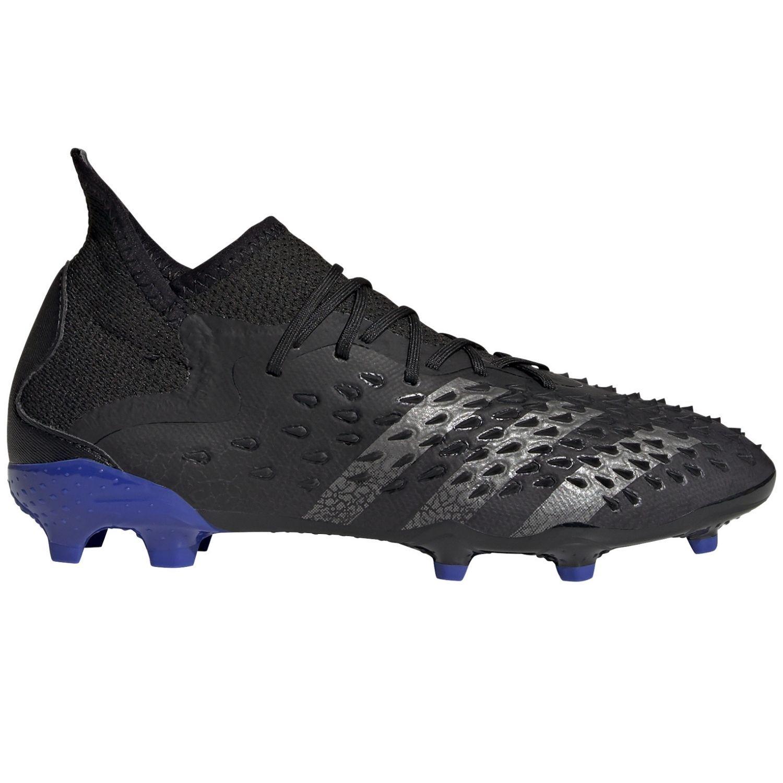 adidas Predator Freak.1 Gras Voetbalschoenen (FG) Kids Zwart Donkergrijs Blauw