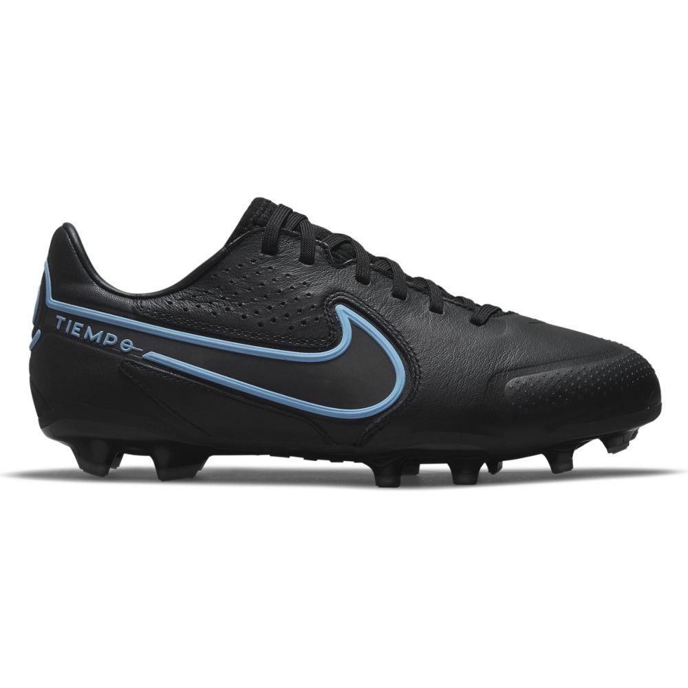Nike Tiempo Legend 9 Pro Gras Voetbalschoenen (FG) Kids Zwart Blauw