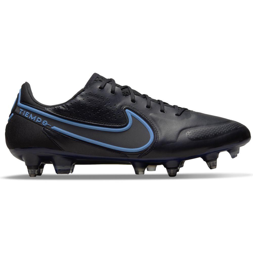 Nike Tiempo Legend 9 Elite Ijzeren-Nop Voetbalschoenen (SG) Anti-Clog Zwart Blauw