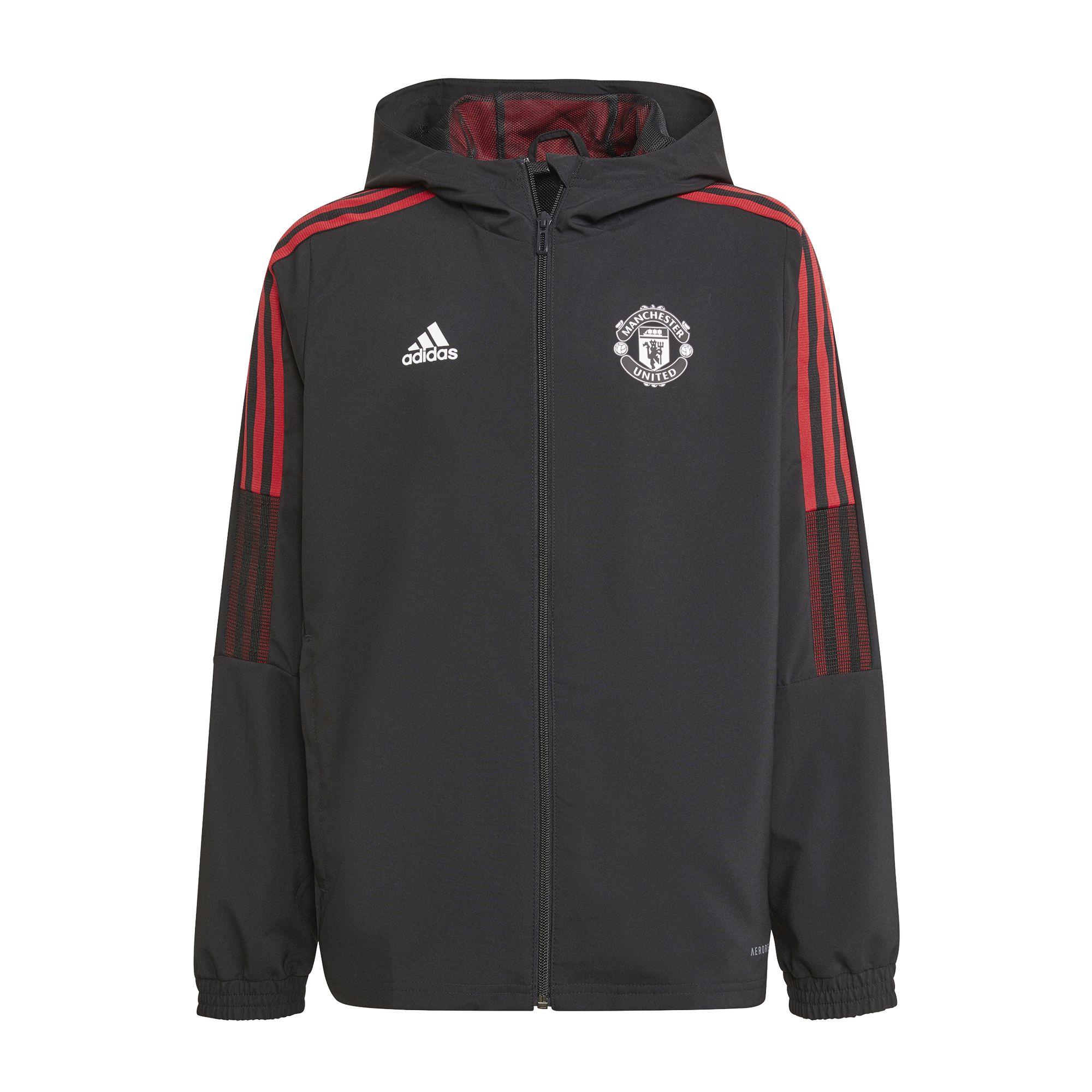 adidas Manchester United Presentatie Trainingsjack 2021-2022 Kids Zwart