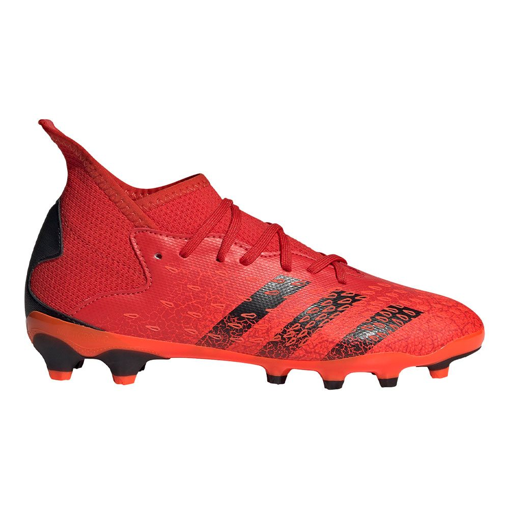 adidas Predator Freak.3 Gras / Kunstgras Voetbalschoenen (MG) Kids Rood Zwart Rood