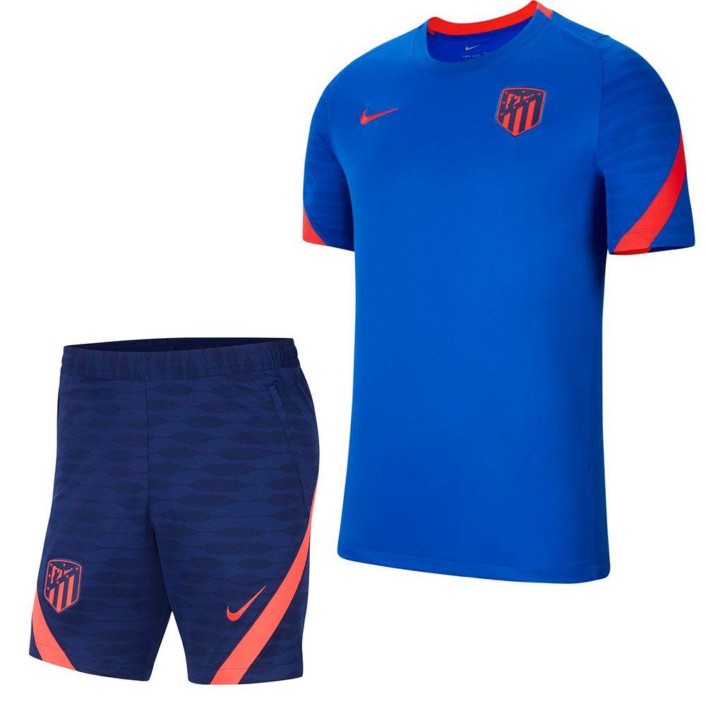 Nike Atletico Madrid Strike Trainingsset 2021-2022 Blauw Donkerblauw