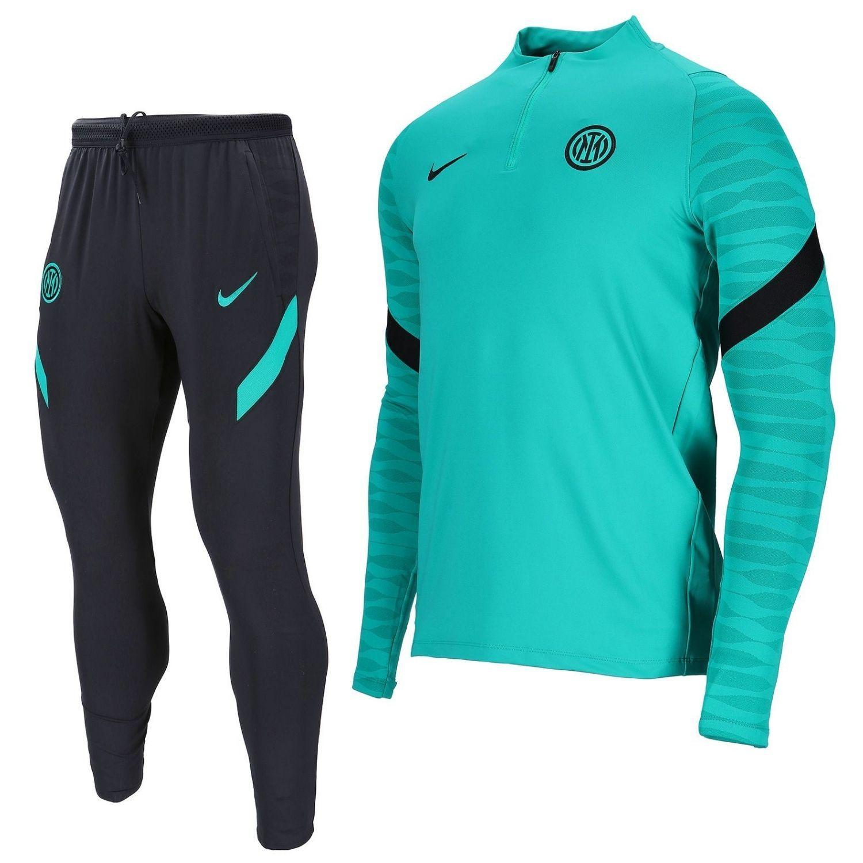 Nike Inter Milan Strike Drill Trainingspak 2021-2022 Turquoise Zwart
