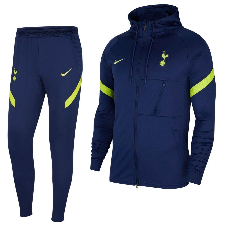 Nike Tottenham Hotspur Strike Hoodie Trainingspak 2021-2022 Donkerblauw Geel