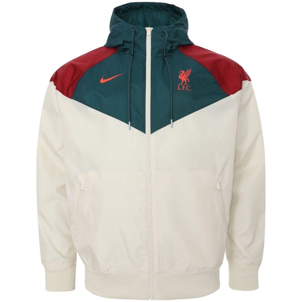 Nike Liverpool Windrunner 2021-2022 Lichtbruin Donkergroen Rood
