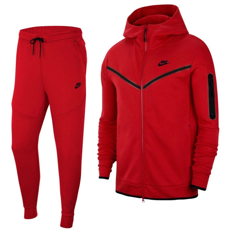 Nike Tech Fleece Trainingspak Full-Zip Rood