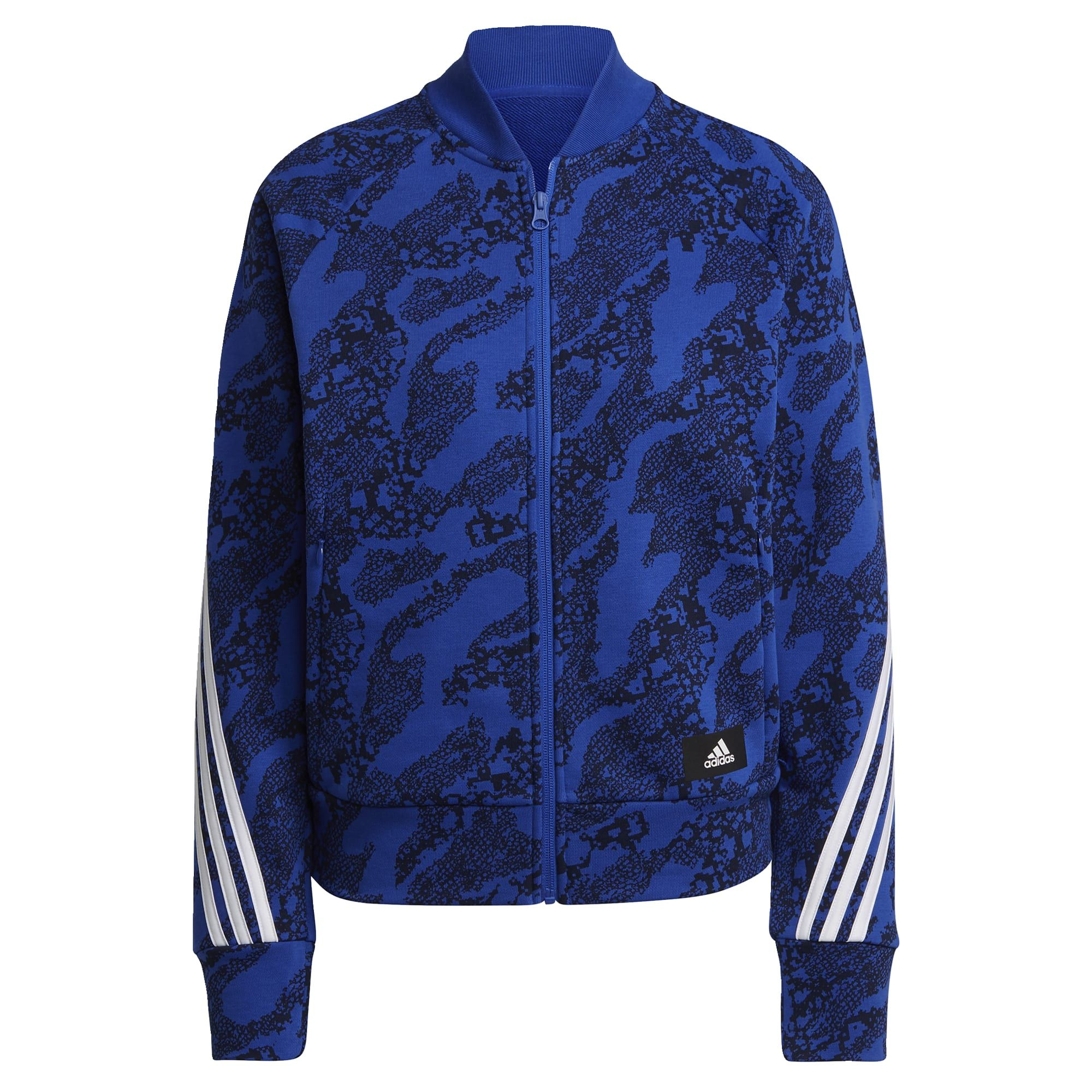 adidas Sportswear Future Icons Trainingsjack Dames Blauw Zwart
