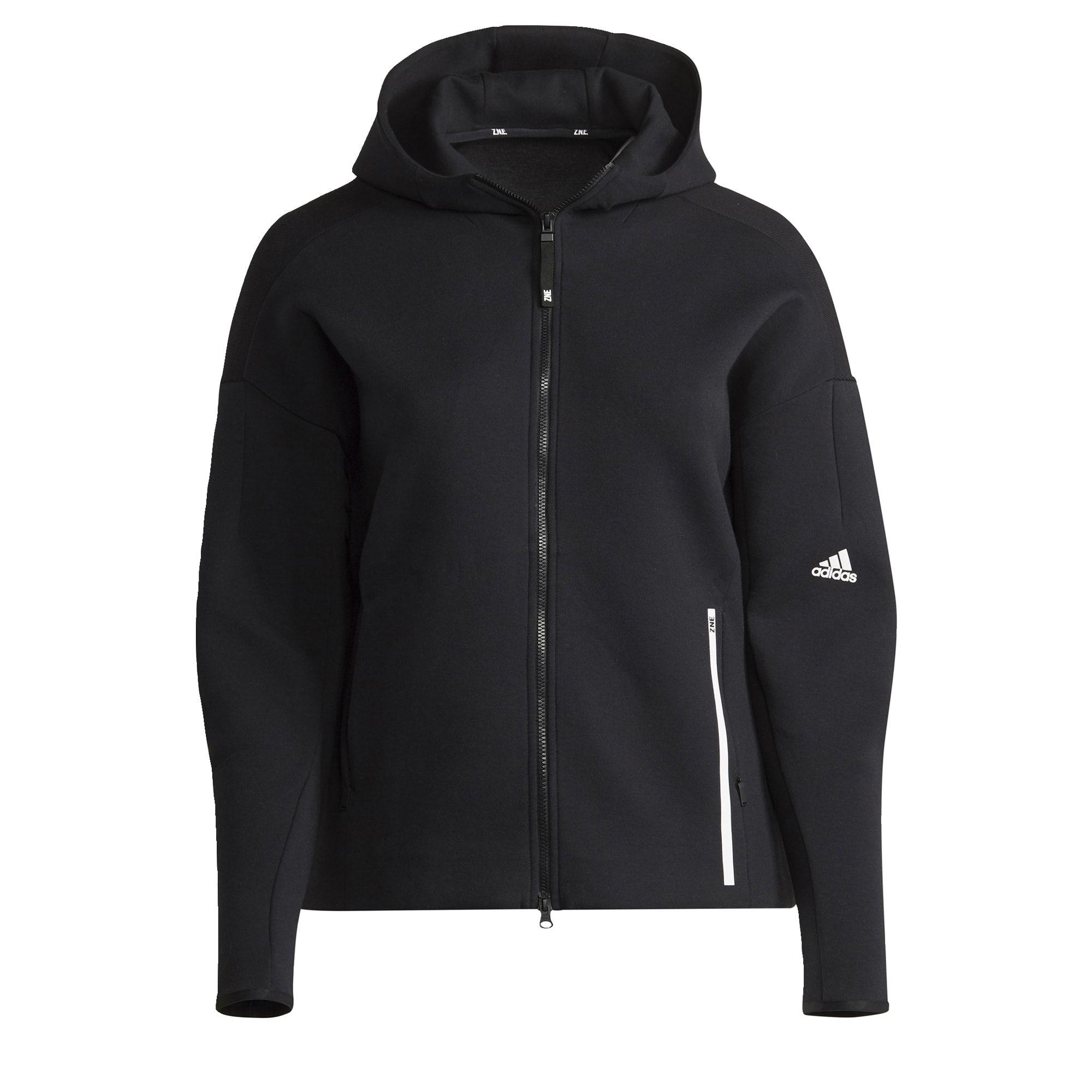 adidas Z.N.E. Sportswear Hoodie (Grote Maat) Dames Zwart