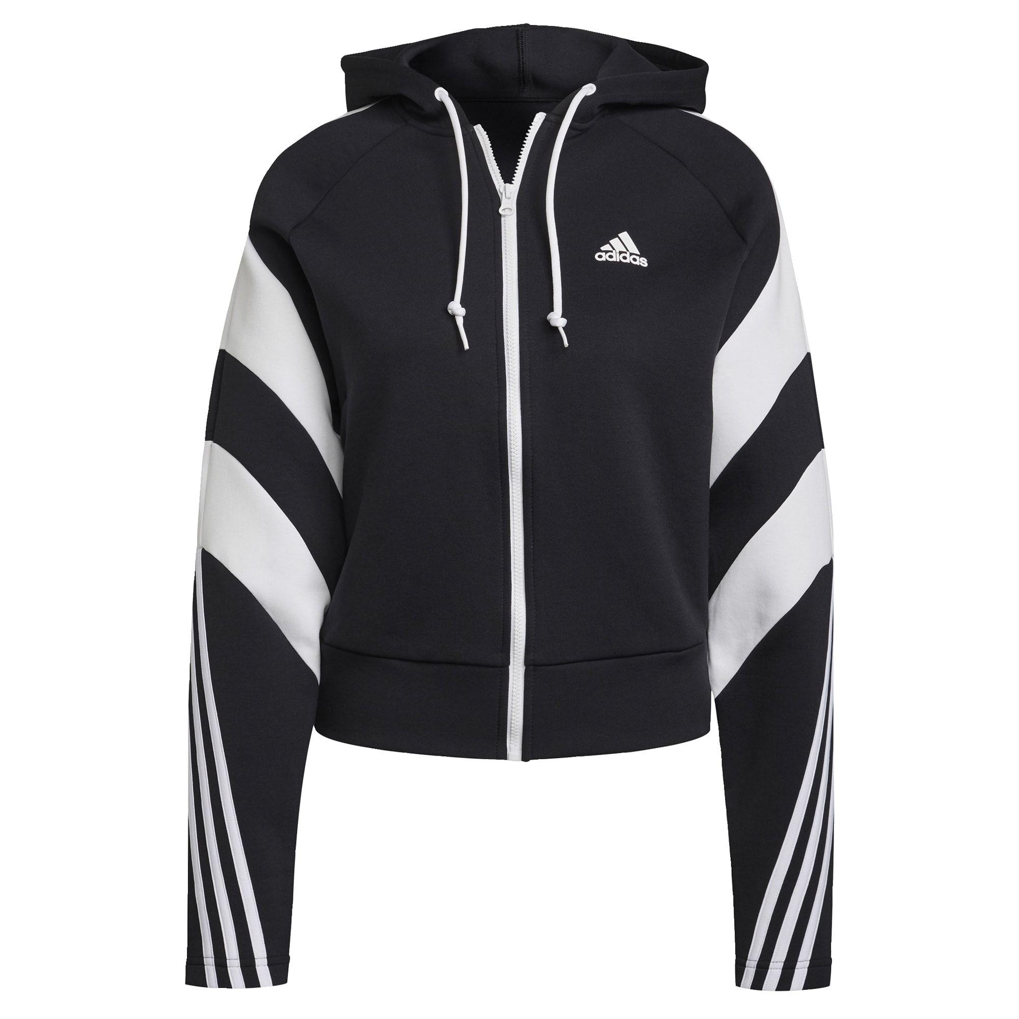 adidas Sportswear Colorblock Ritsjack Dames Zwart