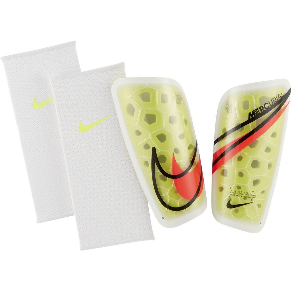 Nike Mercurial Lite Scheenbeschermers Geel Wit Rood
