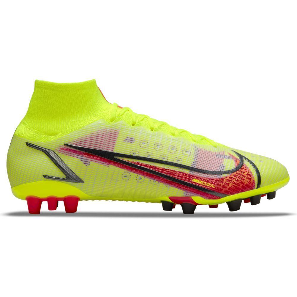 Nike Mercurial Superfly 8 Elite Kunstgras Voetbalschoenen (AG) Geel Rood Zwart