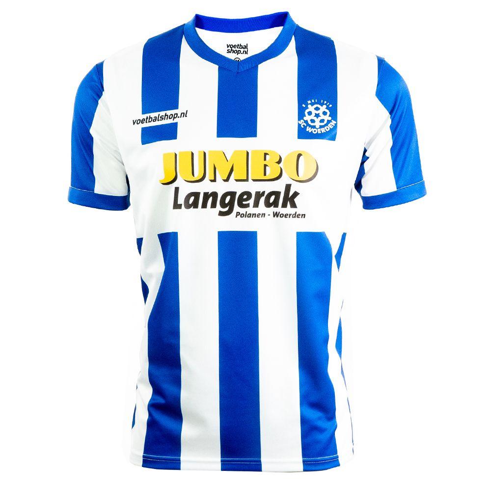 SC Woerden Thuisshirt Junior Blauw Wit