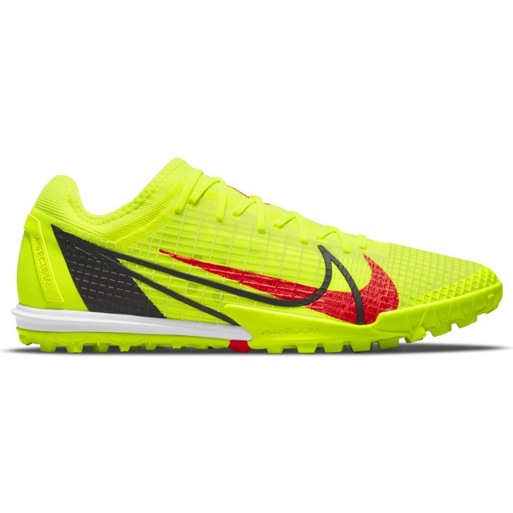 Nike Mercurial Vapor 14 Pro Turf Voetbalschoenen (TF) Geel Rood Zwart