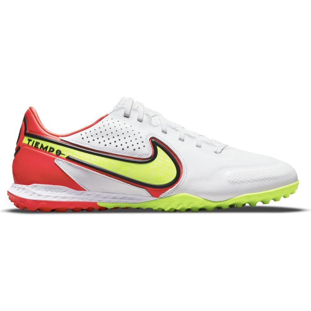 Nike Tiempo Legend 9 Pro React Turf Voetbalschoenen (TF) Wit Geel Rood