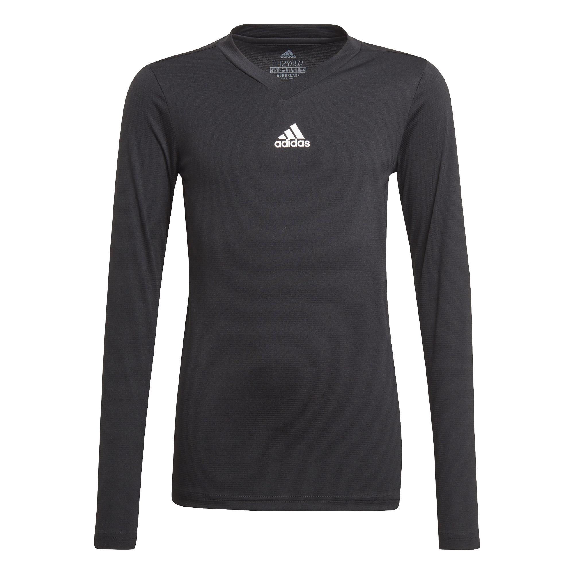 adidas Team Ondershirt Lange Mouwen Kids Zwart